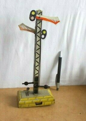 Vintage Tin Toy Pre War GERMANY - 1 Or O GAUGE Double SEMAPHORE Signal - 20/30s • 24€