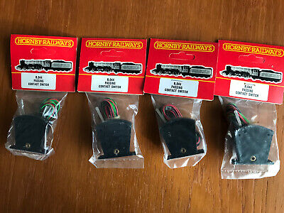 4 X HORNBY OO GAUGE R044 LEVER SWITCH PASSING CONTACT VINTAGE NEW OLD STOCK BLCK • 20.25€