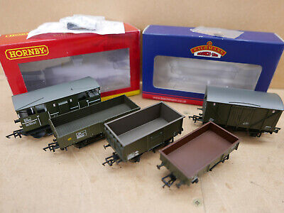 Bachmann / Hornby OO BR Engineers Train Pack In Olive Green - 5 Items • 56.25€
