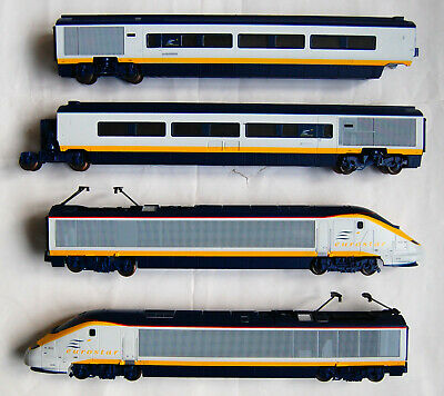 Hornby Eurostar, Power Car, Dummy Car And 2 Carriages. Fully Working. • 79.07€