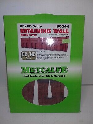 Metcalf PO244, Retaining Wall Brick Style, OO/HO Scale Cardboard Kit • 11.23€