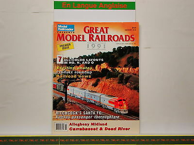 Livre MODEL RAILROADER - Great Model Railroads 1991 - 100 P - First Issue Of GMR • 35€