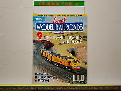 Livre MODEL RAILROADER - Great Model Railroads 1998 - 100 P • 28€