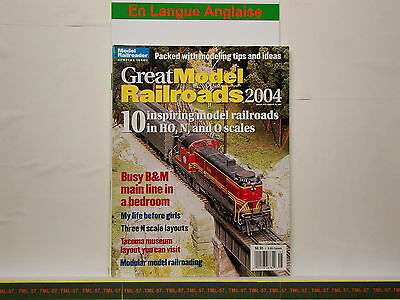 Livre MODEL RAILROADER - Great Model Railroads 2004 - 100 P • 28€