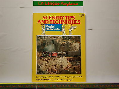 Livre MODEL RAILROADER - Scenery Tips And Techniques - 1989 - 120 P • 28€