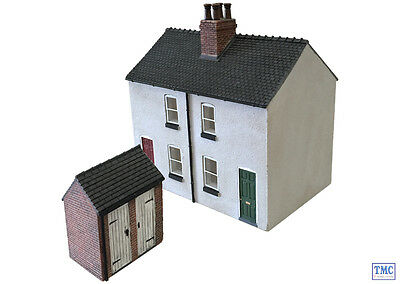 44-125X Scenecraft OO/HO Gauge Rendered Workers Cottages • 49.03€