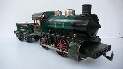 BING  SPUR  1    GROSSE LOCOMOTIVE  MÉCANIQUE   TÔLE LITHO  Lg 38 Cm   1927 • 330€
