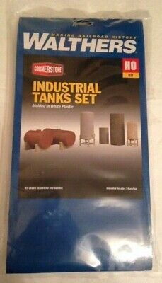 Walthers HO/OO Gauge Industrial Tanks Set Kit Brand New & Sealed • 12.01€