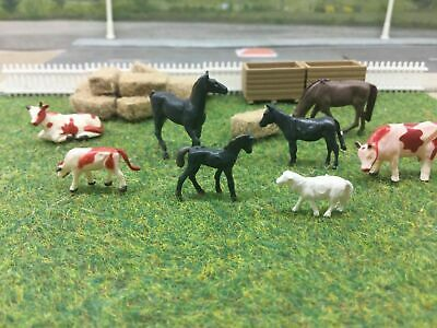 00 Gauge 1/76  Pack Of 8x Farm Animals  (brwn002) • 5.03€