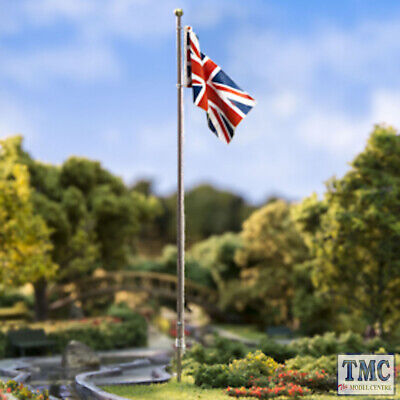 JP5959 Woodland Scenics Medium Union Jack Flag Pole • 13.26€