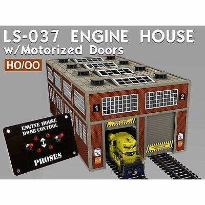 PLS-037 Proses HO/OO Scale Modern Engine House Kit W/Motorized Doors And Lights • 149.34€