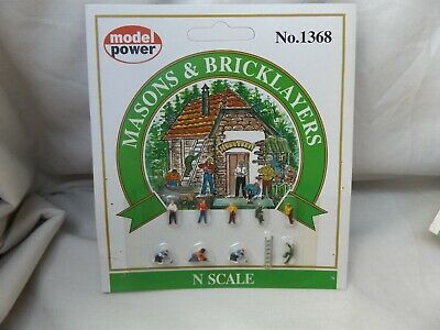 Model Power 1368 Mason/bricklayers    Sealed    N  Gauge • 1.13€