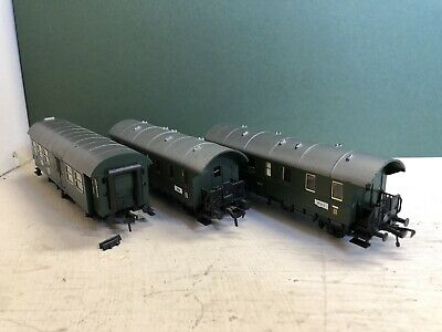 X3 Fleischmann DB Green Carriages HO Gauge Various Conditions (No Boxes) • 27.18€