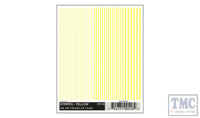 DT516 Woodland Scenics O/HO/N Scale Stripes - Yellow • 6.21€