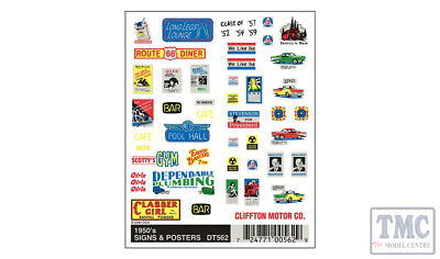 DT562 Woodland Scenics O/HO/N Scale 1950's Signs & Posters • 8.18€
