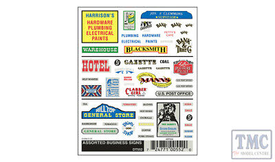 DT552 Woodland Scenics O/HO/N Scale Assorted Business Signs • 8.18€