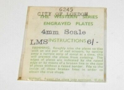 4mm Scale OO Loco Name/Number Plates LMS 6245 City Of London • 6.46€