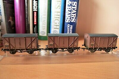 Bachmann 38-185 Set Of 3 Plywood Fruit Br Bauxite Wagons Weathered • 33.74€