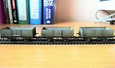 OXFORD RAIL SET OF 3 X BR MINERAL WAGONS PROFESSIONALLY WEATHERED BY GRIMY TIMES • 22.49€