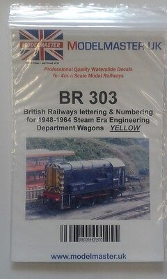 Sheet Of Decals For BR 1948-65 Engineering Dept. Wagons Modelmaster MMBR303 L1 • 11.30€