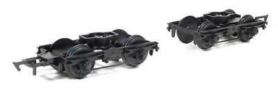Midland Railway 10ft Coach Bogies With Wheels - Ratio 107 - OO/HO Spares - • 9.15€