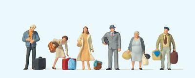 Travellers Waiting - High Quality OO Figures (6) - PREISER 73001 • 17.51€