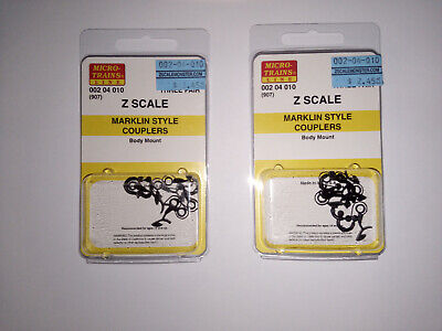 (France) Train MicroTrains 002 04 010 / 2 X '3 Paires Couplage Attelage Marklin' • 10€