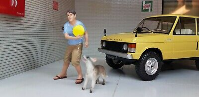 G LGB 1:24 Scale Young Man & Dog Figures Land Rover Workshop Diorama Model • 22.05€