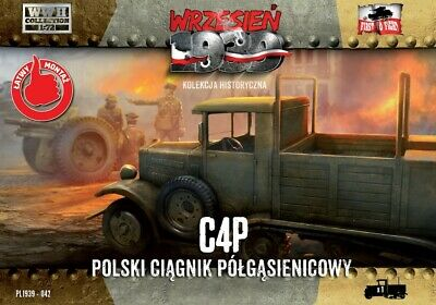 C4P Polish Halftrack Artillery Tractor 1/72 Model Kit First To Fight FTF042 • 12.29€