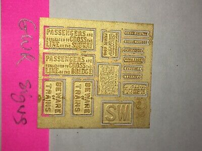 4mm GWR Etched Brass Lineside Signs Kit Built OO EM P4 S4 • 3.62€