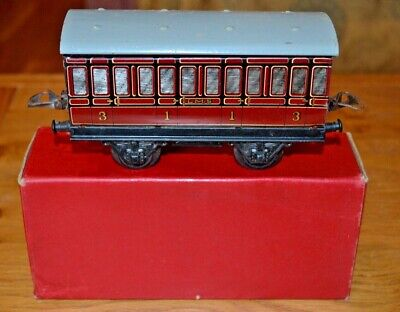 Vintage Boxed HORNBY SERIES Meccano O GAUGE R155 No.1 Passenger Coach • 92.49€
