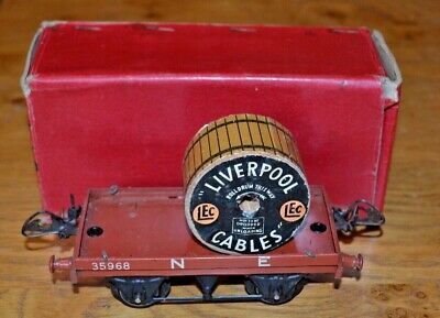 Vintage Boxed HORNBY SERIES Meccano O GAUGE R159 Flat Truck With Cable Drum • 92.49€