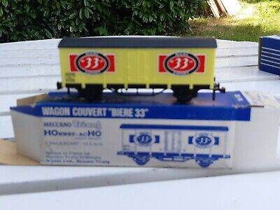 Wagon Hornby Acho , Wagon Couvert  Biere 33 7132 Meccano Triang  • 5€