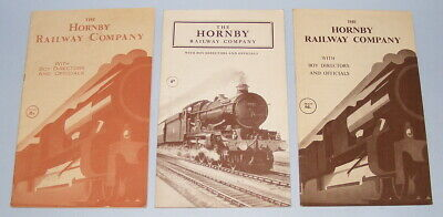 MECCANO 3 X THE HORNBY RAILWAY COMPANY BOOKLETS 1948 + 1952 + 1958 • 33.36€