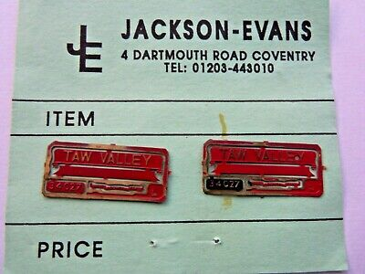 OO   4mm. JACKSON-EVANS.  34027  TAW VALLY     NAME PLATE    Pre-owned • 2.23€