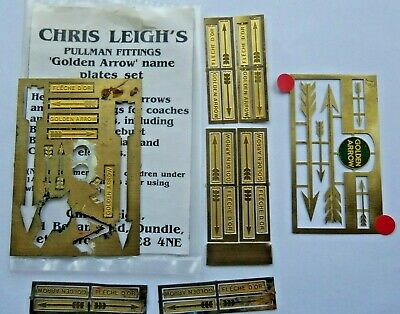 OO   4mm. FOX & CHRIS LEIGHT'S     GOLDEN ARROW FITTINGS  BRASS  Pre-owned • 6.75€