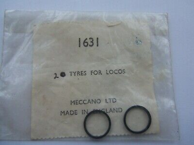 OO   4mm. MECCANO..2 X RUBBER TYRES FOR LOCOS.     Pre-owned • 1.11€