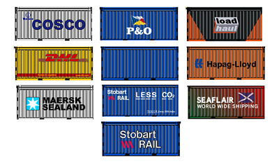 00 Gauge Model Railway Containers Ship Yard Scene Stobart Rail P&O DHL Cosco 10  • 1.11€