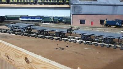 Kit Built Flat Bed Wagons X3 O Gauge 7mm Possibly L&yr • 112.97€