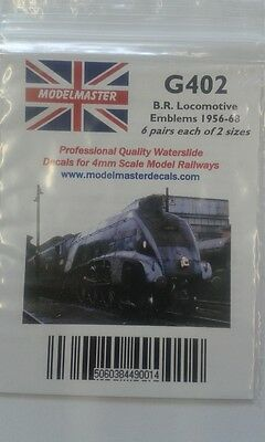 Transfers For Loco Crests 1956 -68 (12 Pairs) - Modelmaster MMG402 L1 • 9.27€