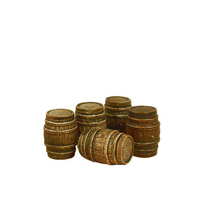 Five Large Oak Casks - OO Gauge Accessories Harburn Hamlet FL143 - P3 • 13.78€