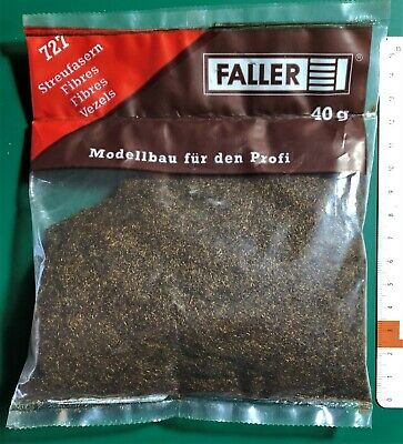 FALLER 170727 - GRASS FIBRES DARK BROWN BUSTINA 40gr • 4€
