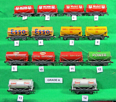 HORNBY DUBLO ASSORTED UNBOXED SHORT TANK WAGONS.  Choose From List • 111.72€