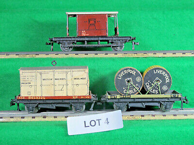 HORNBY DUBLO OO GAUGE 3 RAIL 3 WAGONS AS PHOTOGRAPH FAIR/GOOD No Boxes LOT 4 • 11.16€