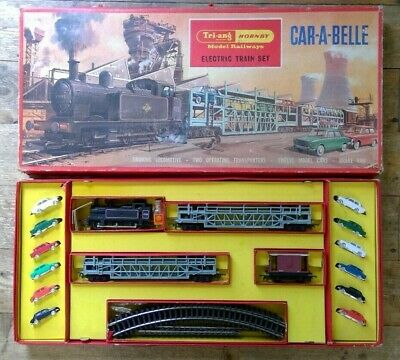 Triang Hornby Rs.62 Car-a-belle Electric Train Set • 111.13€