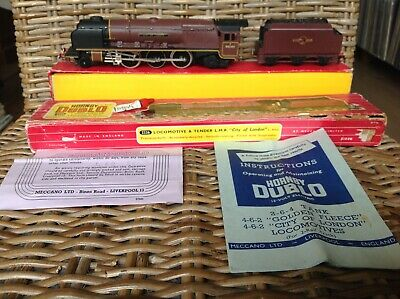HORNBY DUBLO 2226 Locomotive And Tender  City Of London  Maroon Boxed • 130€