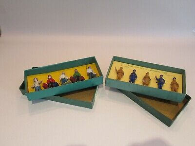 2 Original Boxed Sets Pre-war Dinky Toys 'o' Guage Figural Groups No. 4 &  No. 5 • 233.78€
