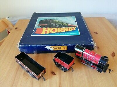 VINTAGE HORNBY  0  GOODS TRAIN  SET 40010 And Large BoxHornby 3435 And LMS12530 • 56.24€