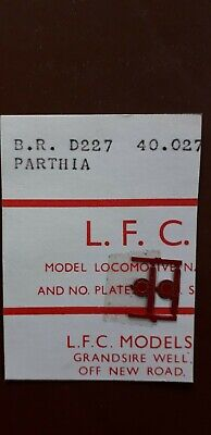 LFC OO Etched Nameplates - D227 / 40027 Parthia • 6.60€