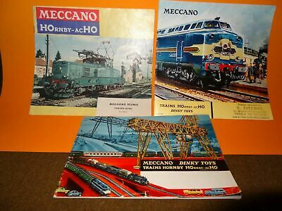 3 Catalogues - Trains Hornby - Dinky Toys - Meccano • 30€
